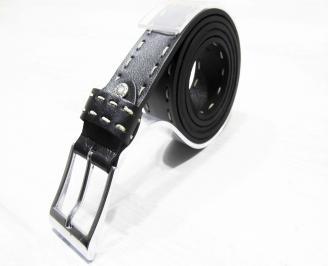 Мъжки колан черен естествена кожа PIZO-25284