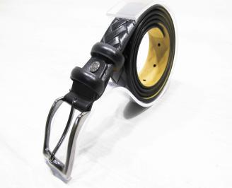 Мъжки колан черен естествена кожа YOYU-25293