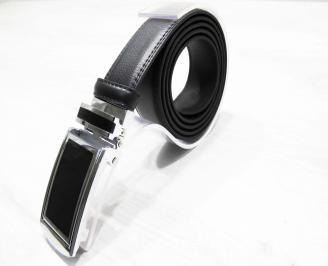 Мъжки колан черен естествена кожа MFWJ-25299
