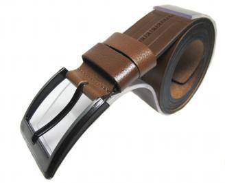 Мъжки колан кафяв естествена кожа IBVU-22174