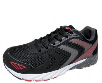 Мъжки маратонки Bulldozer еко кожа/текстил черни RZQV-21253