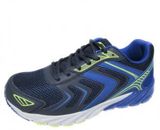 Мъжки маратонки Bulldozer еко кожа/текстил тъмно сини PLKW-21256