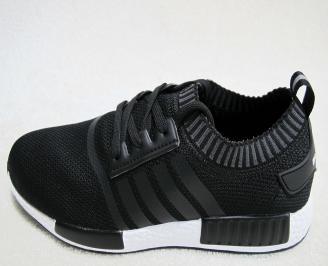 Мъжки  маратонки  Bulldozer текстил черни QKQL-23173