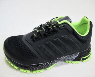 Мъжки маратонки BULLDOZER текстил черни DKPZ-23179