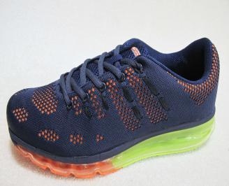 Мъжки маратонки Bulldozer текстил тъмно сини UHND-23184