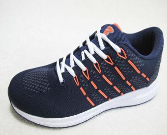 Мъжки  маратонки Bulldozer текстил тъмно сини IWGJ-23187