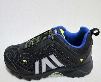 Мъжки маратонки BULLDOZER еко кожа/текстил черни XRBJ-23206