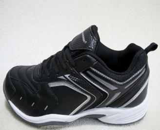 Мъжки маратонки BULLDOZER еко кожа черни YKTF-23207