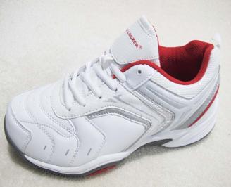 Мъжки маратонки BULLDOZER еко кожа бели SUBS-23208