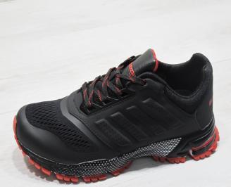 Мъжки Маратонки Bulldozer - текстил  черно и червено XFYM-23742