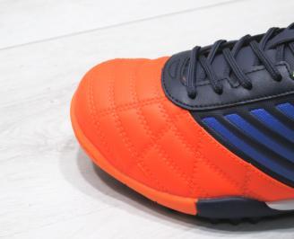 Мъжки Маратонки Bulldozer еко кожа оранжево сини AYZY-23754