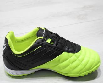 Мъжки маратонки Bulldozer еко кожа зелени/черно ZZJV-23756