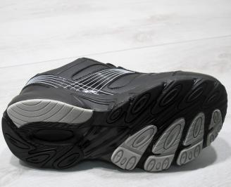Мъжки маратонки Bulldozer -Гигант еко кожа черни NZMZ-23758