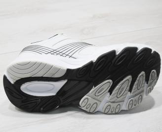Мъжки маратонки Bulldozer -Гигант еко кожа бели XYTZ-23759