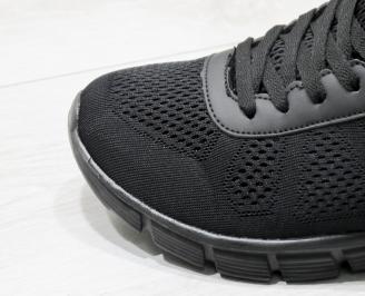 Мъжки Маратонки Bulldozer - текстил  черни SFGZ-23761