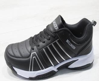 Мъжки маратонки Bulldozer еко кожа черни UXCP-23763