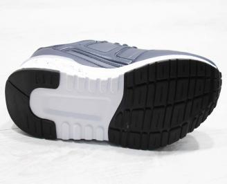 Мъжки маратонки Bulldozer еко кожа сини TLHX-25075