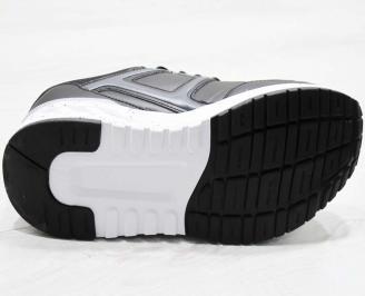 Мъжки  маратонки Bulldozer  еко кожа черни CWMD-25116