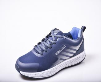 Мъжки  маратонки  еко кожа сини SEEP-1010172