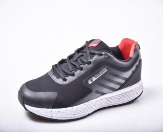 Мъжки  маратонки  еко кожа черни WQIL-1010174