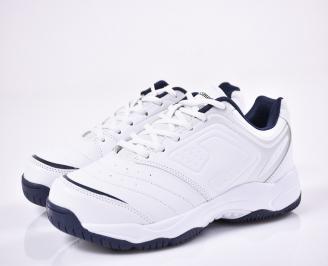 Мъжки маратонки еко кожа бяла DGAB-1011175