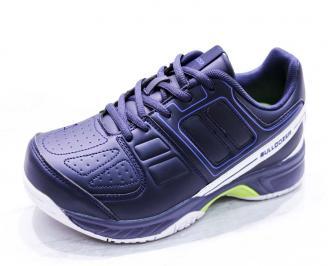 Мъжки маратонки  еко кожа сини LUSP-26675