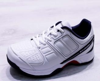 Мъжки маратонки  еко кожа бели FTDO-26679