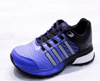 Мъжки маратонки  еко кожа/текстил сини TRLT-26680