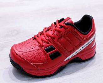 Мъжки маратонки  еко кожа червени WKIL-26689
