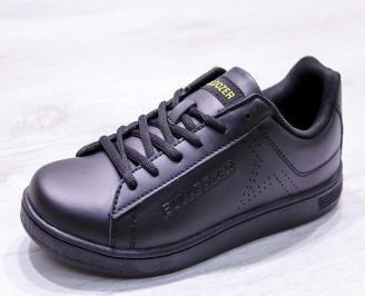 Мъжки маратонки  еко кожа черни XYAV-26690