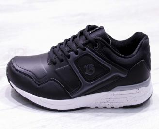 Мъжки маратонки  еко кожа черни HFZP-26692