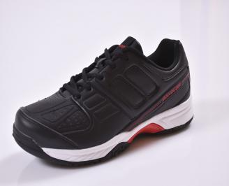 Мъжки маратонки  еко кожа черни FIYK-26849