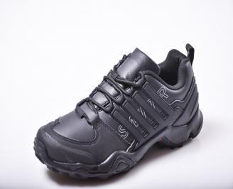 Мъжки  маратонки  естествена кожа черни CGWK-1010164
