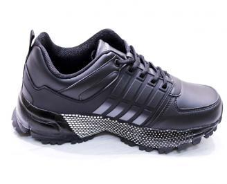 Мъжки маратонки -Гигант еко кожа черни YDDW-26666