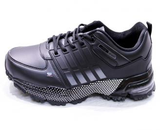 Мъжки маратонки -Гигант еко кожа черни 6