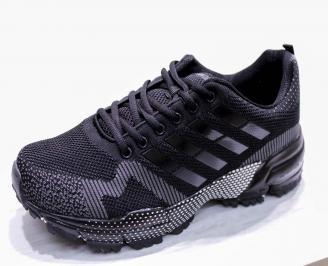 Мъжки маратонки -Гигант текстил черни QMUK-26685
