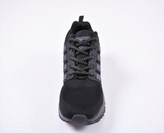 Мъжки маратонки текстил черни QTRI-1011189