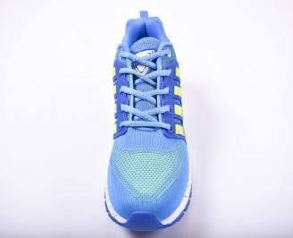 Мъжки маратонки текстил сини YKYH-1011715