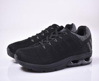 Мъжки маратонки текстил черни. LBAN-1013656