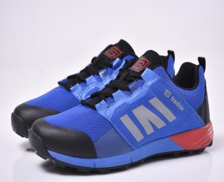 Мъжки маратонки текстил сини BRGS-1014015
