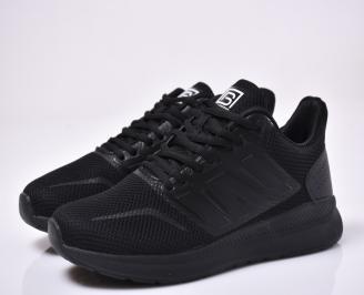 Мъжки маратонки текстил черни YSFG-1014018