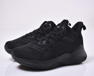 Мъжки маратонки текстил черни. CACG-1014030