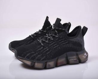 Мъжки маратонки текстил черни   EVIR-1015519