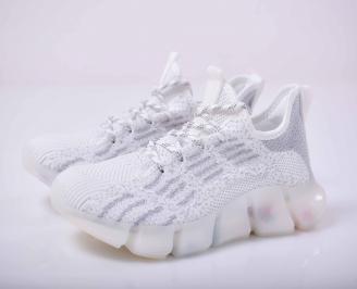 Мъжки маратонки текстил бели  LWHA-1015520