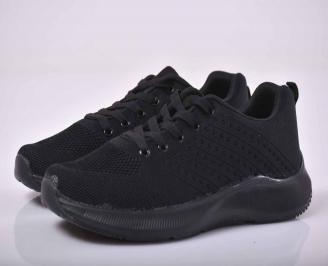 Мъжки маратонки текстил черни   IOWS-1015532