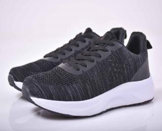 Мъжки маратонки текстил черни   BNRF-1015533