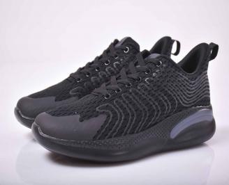 Мъжки маратонки текстил черни   QSPQ-1015536
