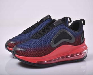 Мъжки маратонки текстил червени   NVVG-1015537