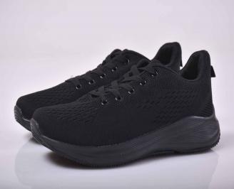 Мъжки маратонки текстил черни   AUZO-1015539