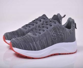 Мъжки маратонки текстил сиви  OHAB-1015541